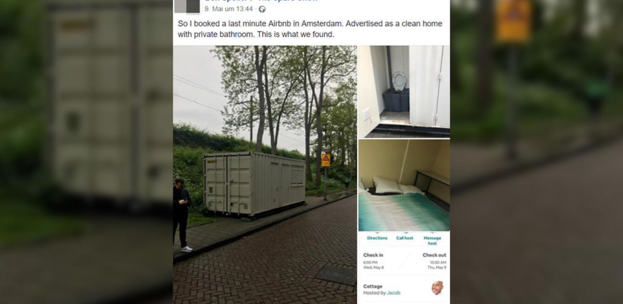 AirBnB-Betrug: Container in Amsterdam